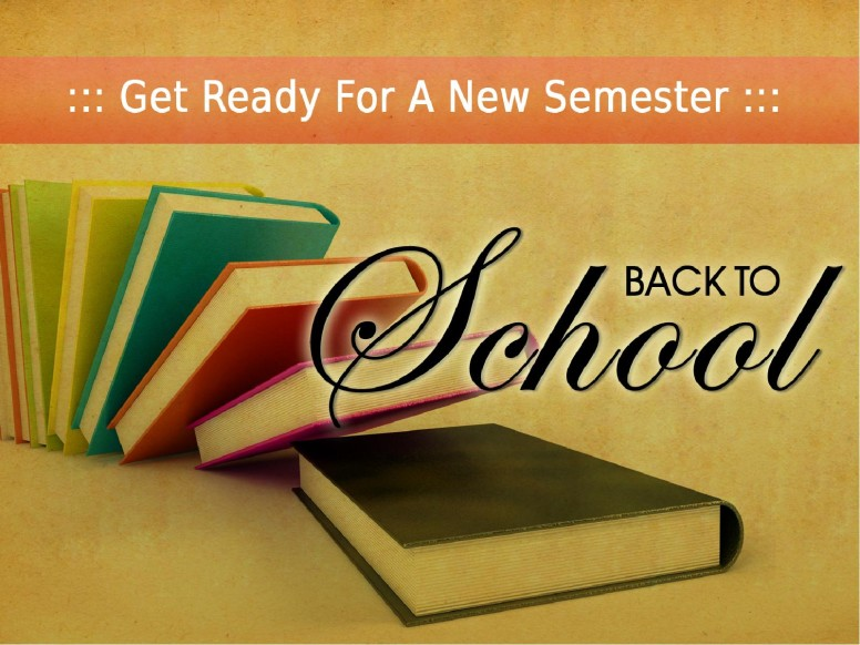 Back To School Books PowerPoint