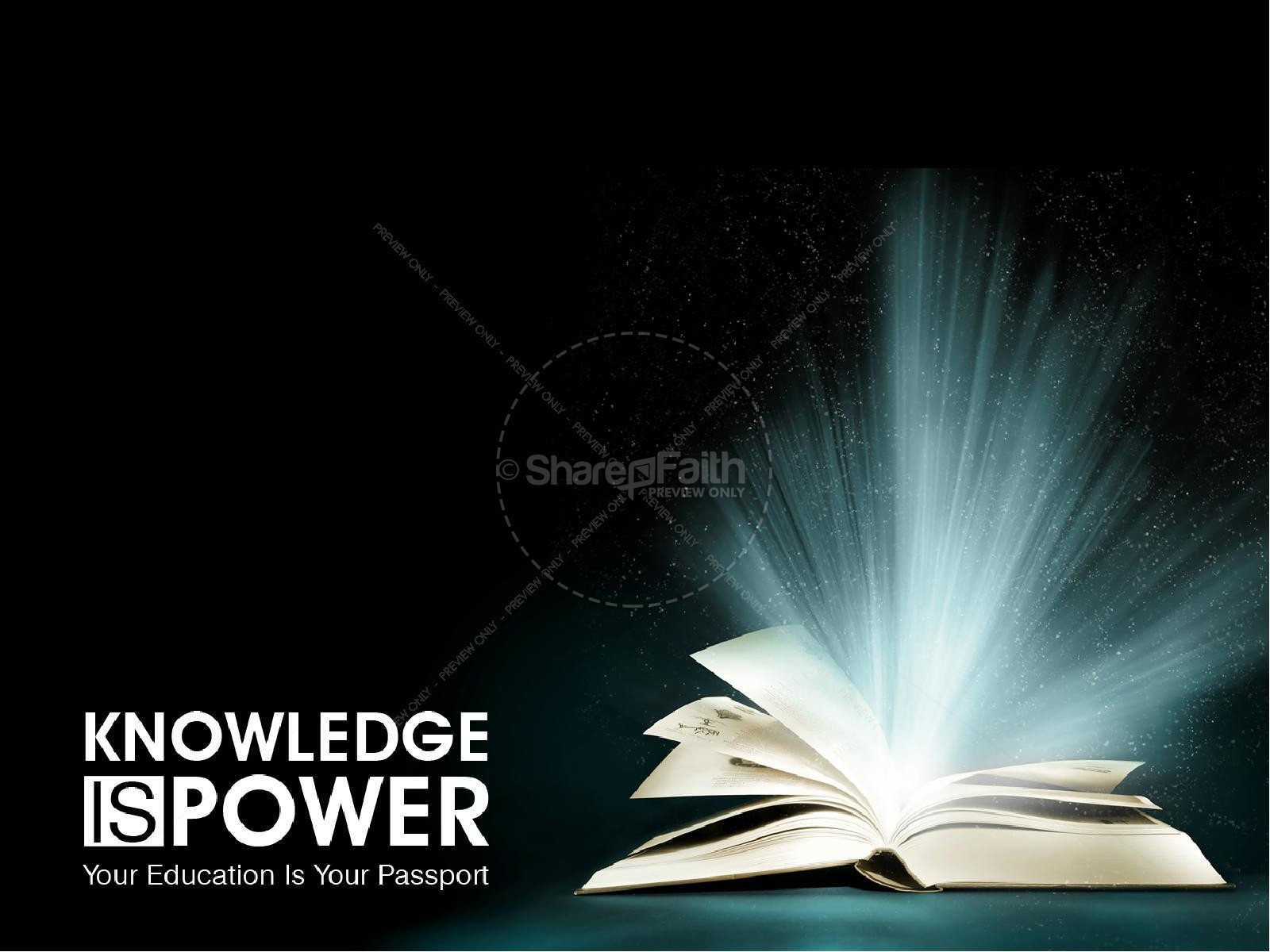 Knowledge Is Power PowerPoint