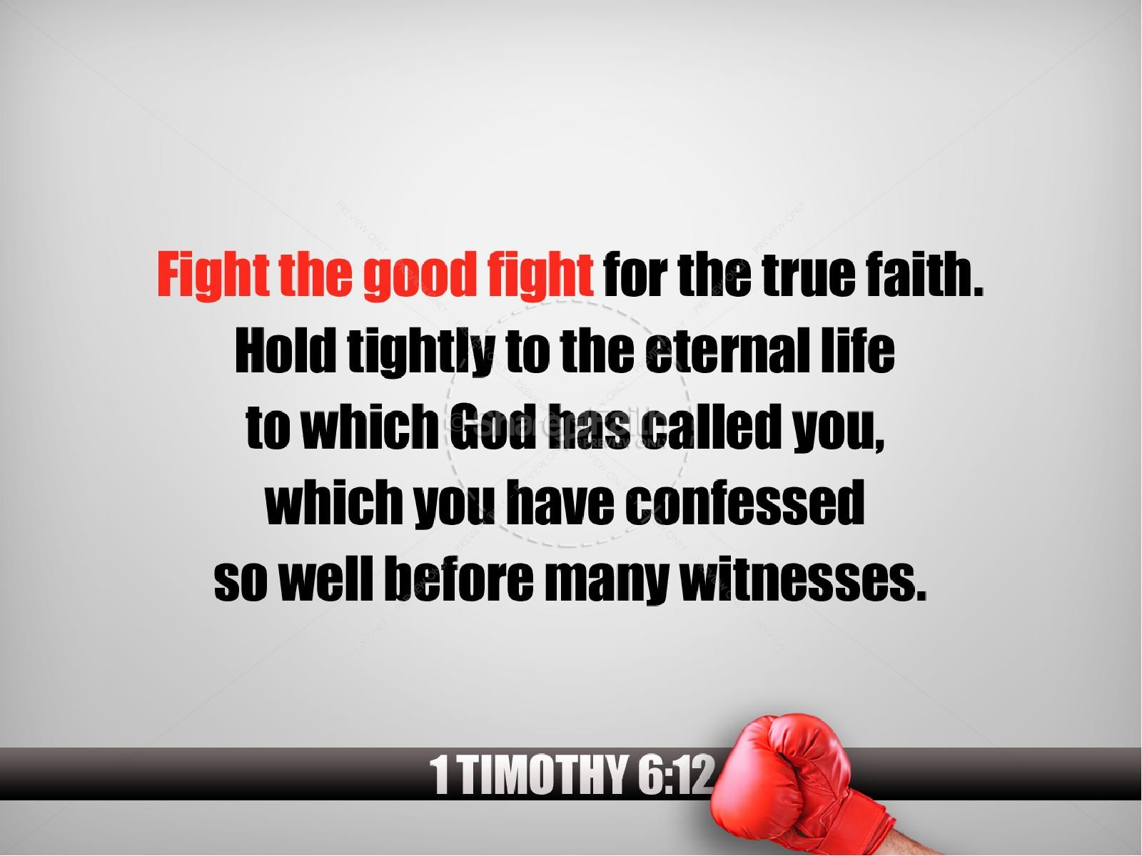 Fight The Good Fight Christian PowerPoint