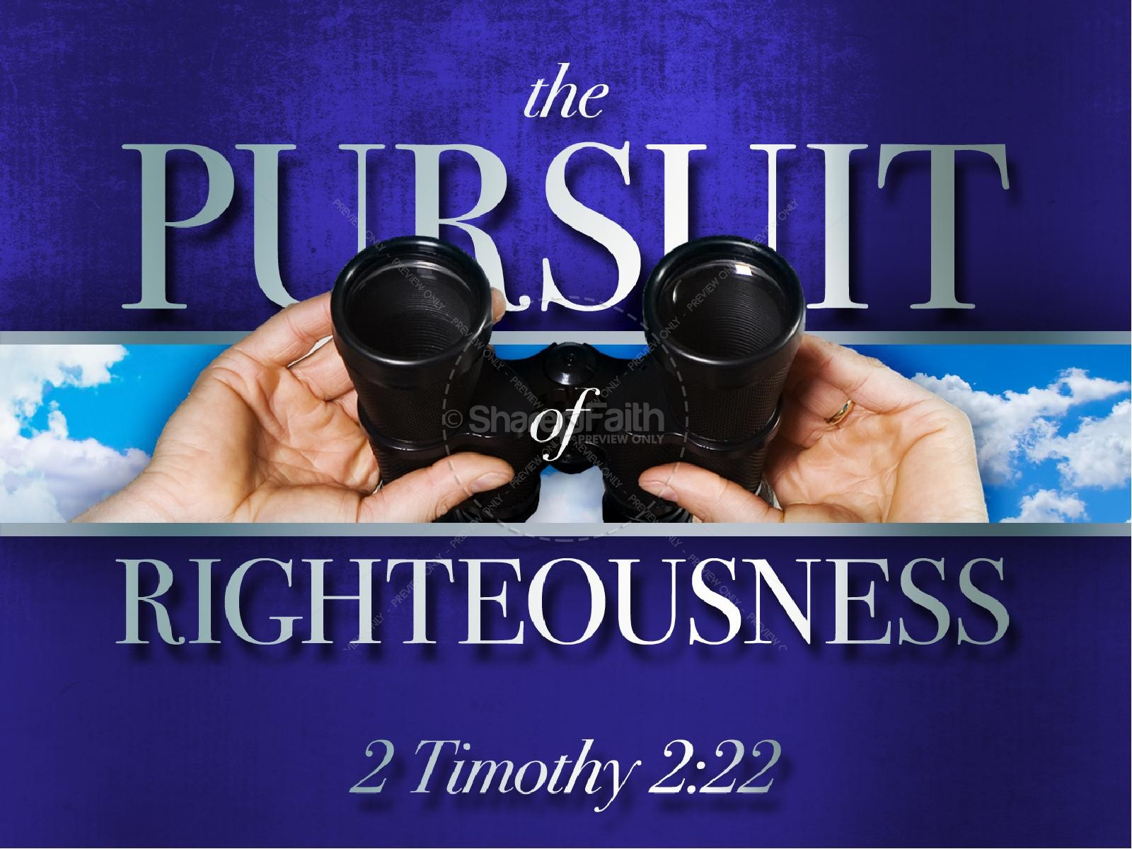 the pursuit of righteousness christian powerpoint