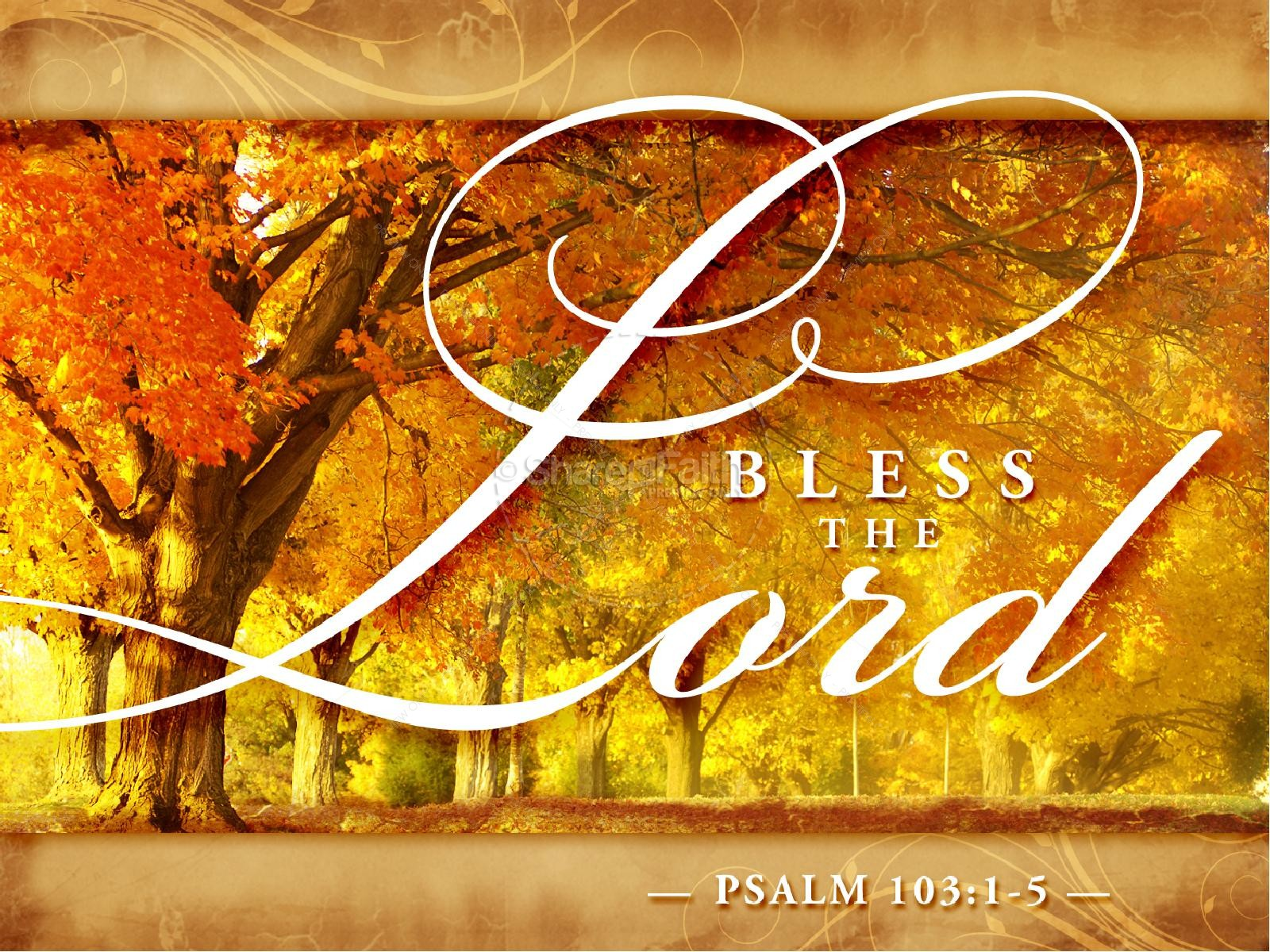 Bless the Lord Sermon PowerPoint | Fall Thanksgiving PowerPoints