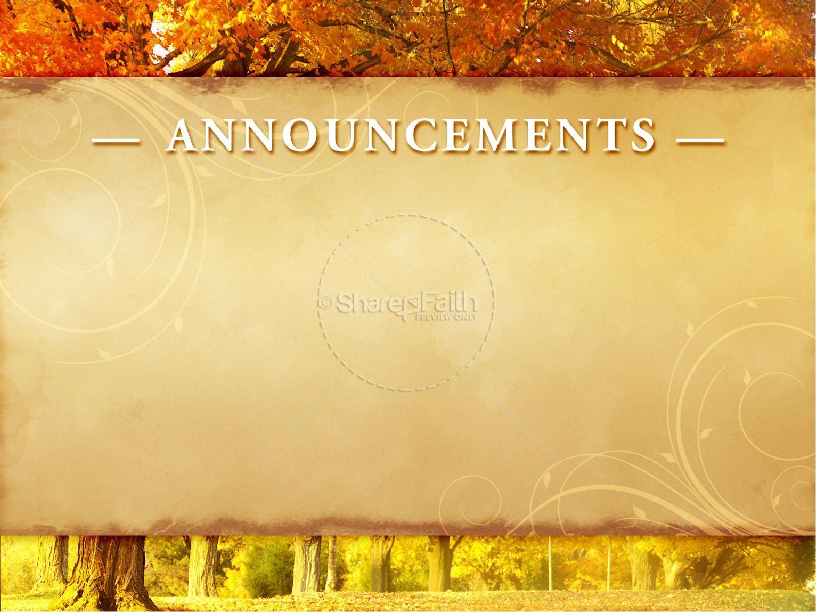 Autumn theme powerpoint -  Bless The Lord Sermon Powerpoint