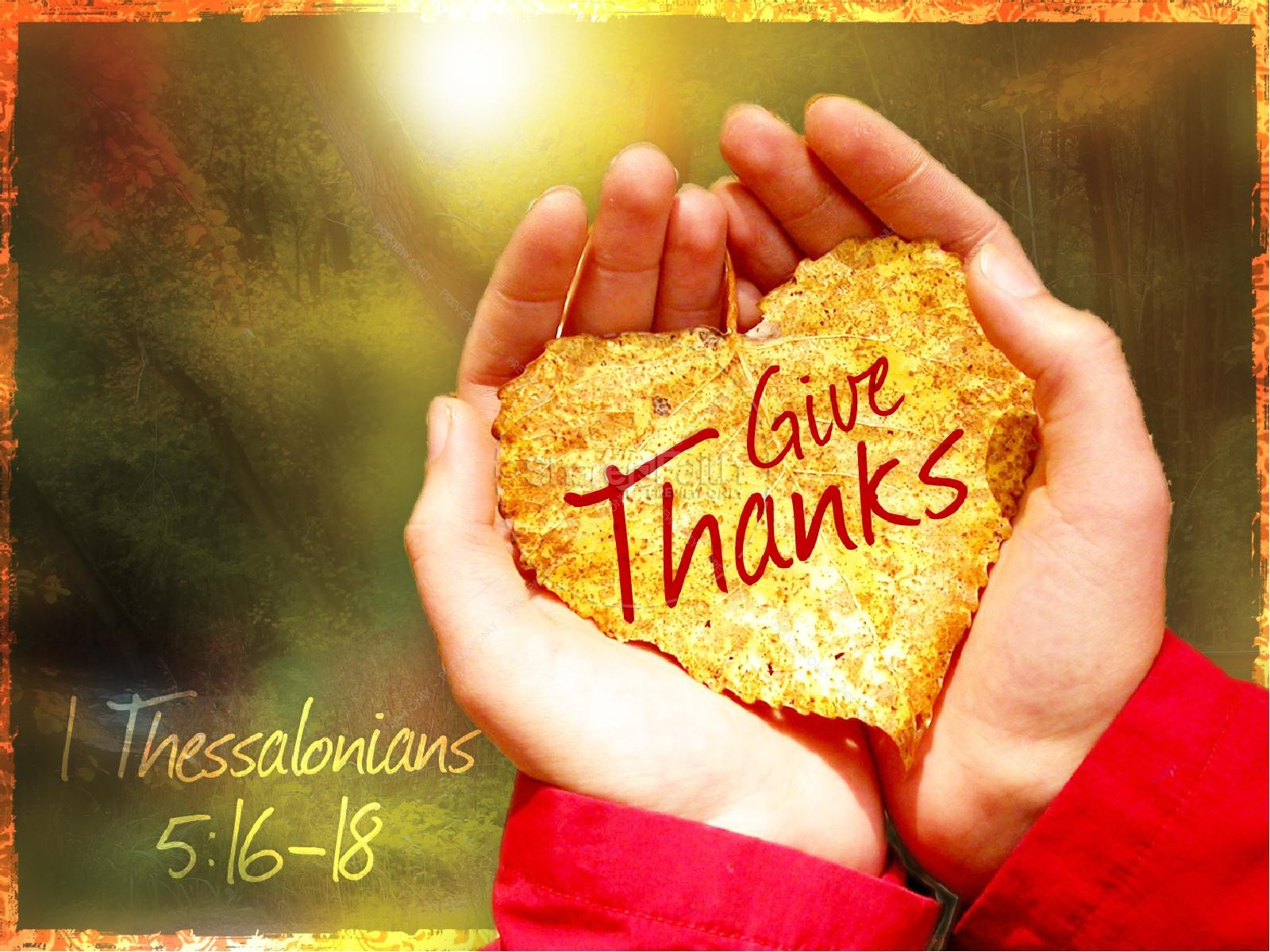 Giving Thanks Church PowerPoint Presentation