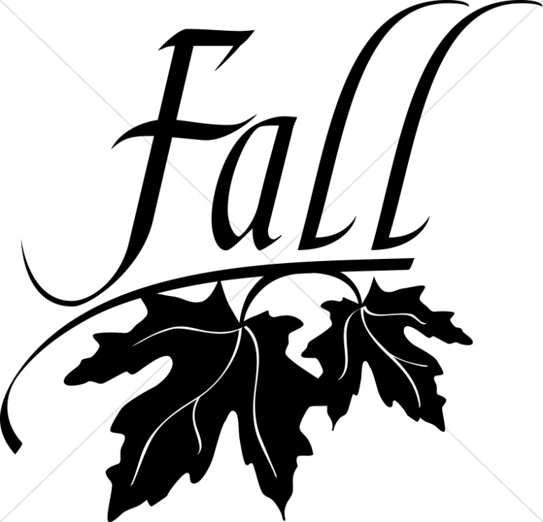 Fall Black And White Church Clipart