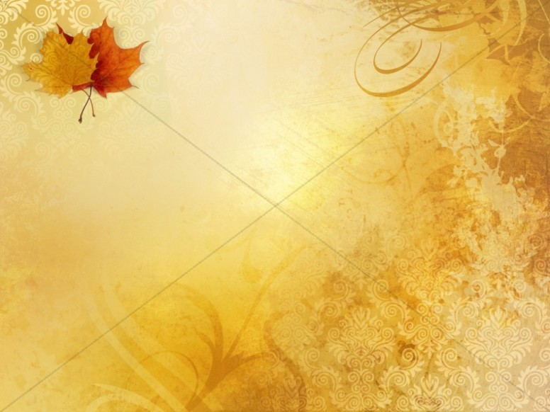 Two Autumn Leaves Worship Background