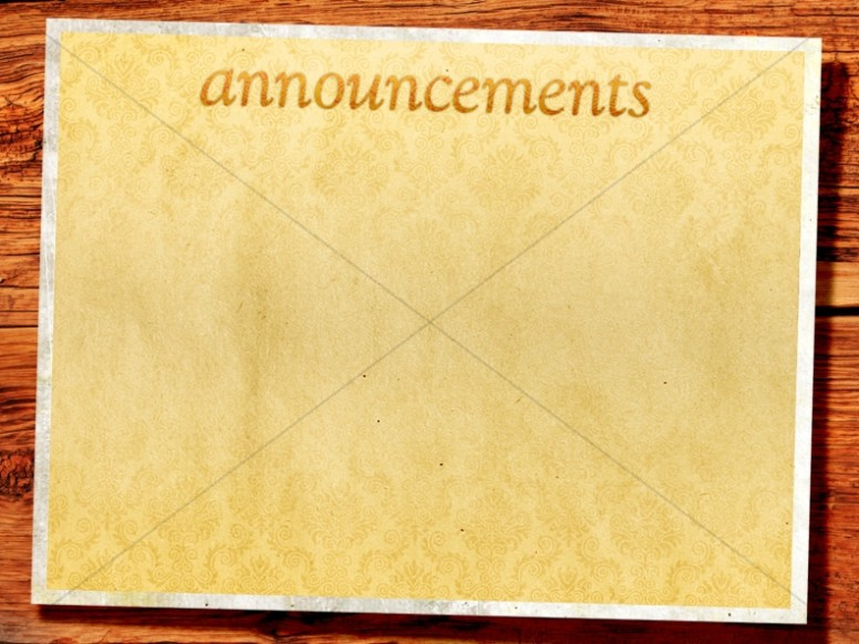Paper And Wood Announcement Background Slide
