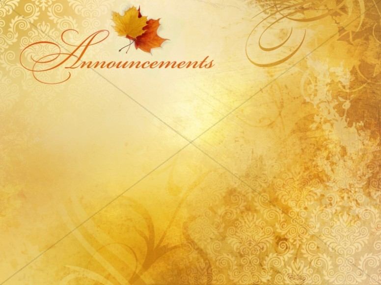 Fall Color Announcement Background Slide