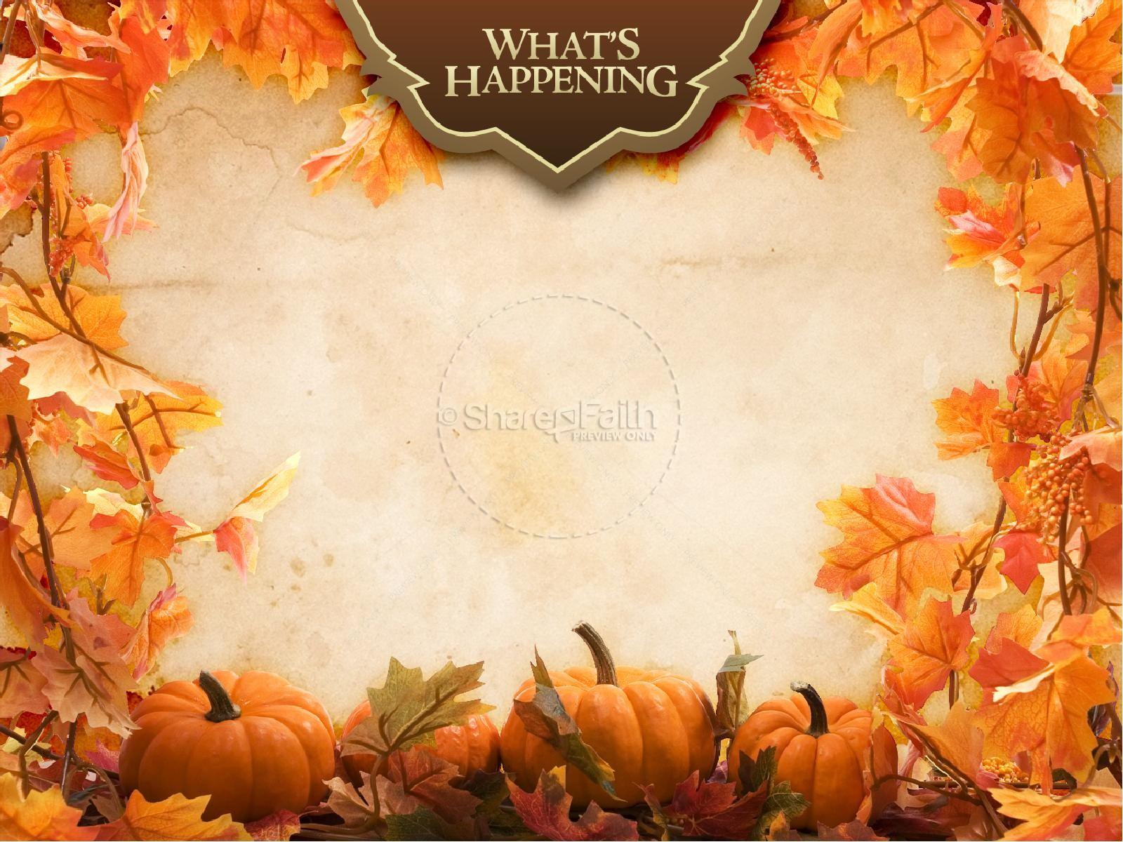 Happy Harvest Sermon PowerPoint