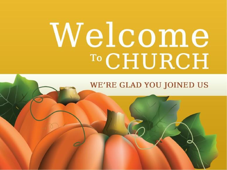 Welcome To Church Sermon Presentation