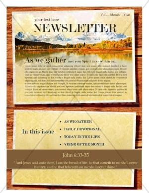 Mountain Scene Church Newsletter