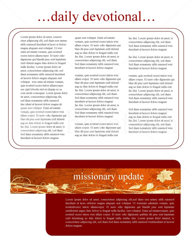 As We Gather Church Newsletter