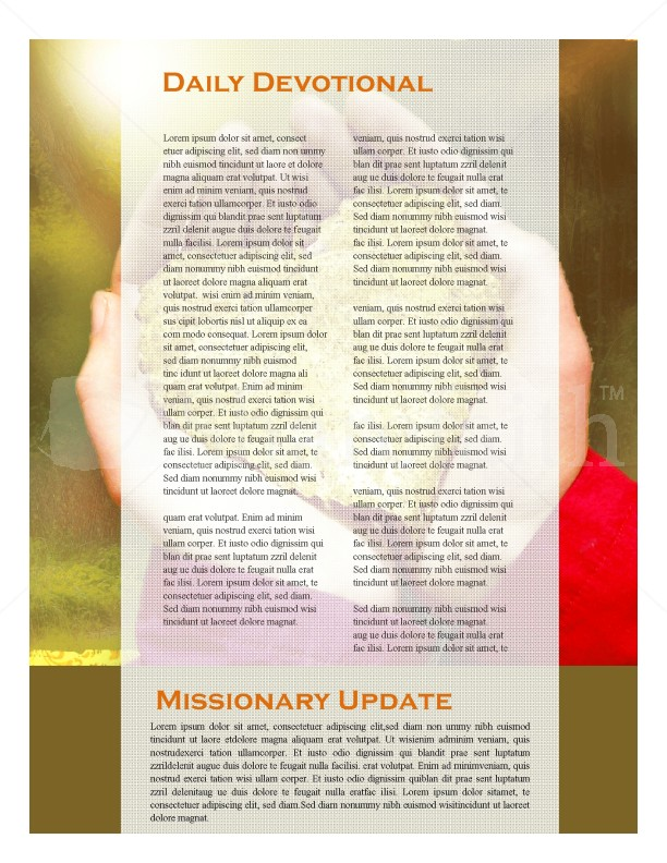 Hands And Leaf Church Newsletter Design | page 2