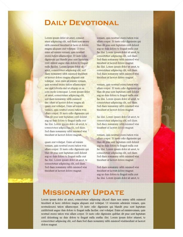 Hands And Leaf Church Newsletter Design