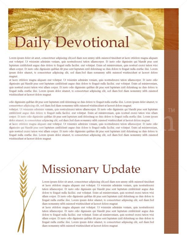fall newsletter design template