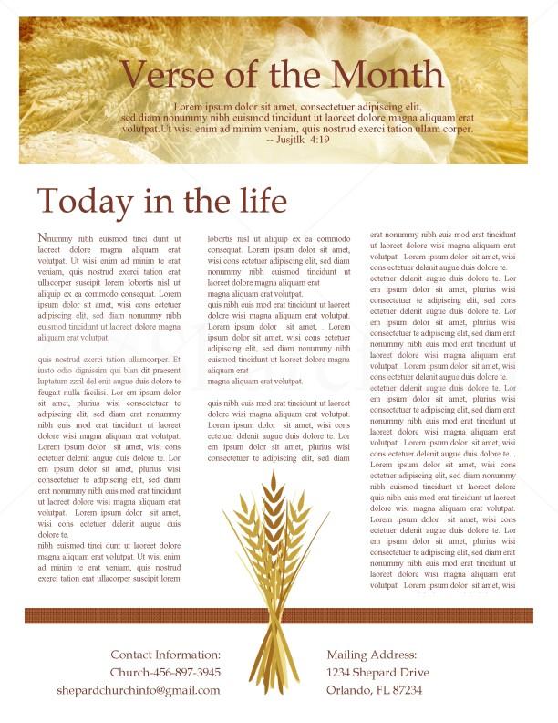 Fall Newsletter Design