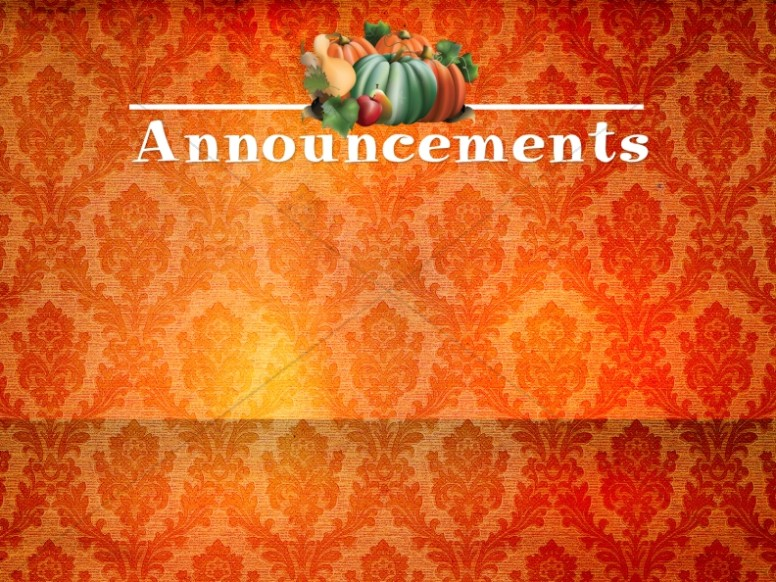 Harvest Time Church Announcement Background