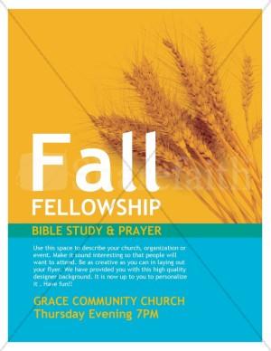 Fall Fellowship Church Flyer