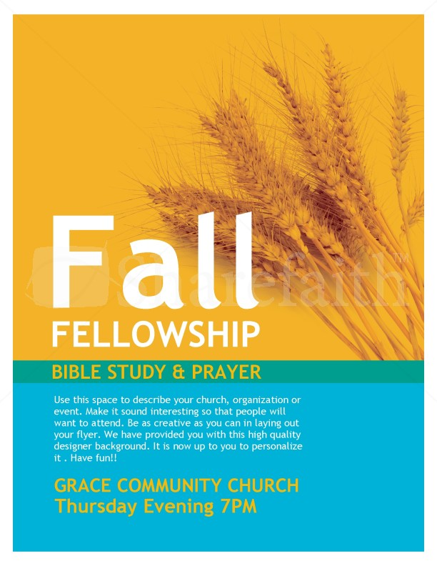 Fall Fellowship Church Flyer Template : Flyer Templates