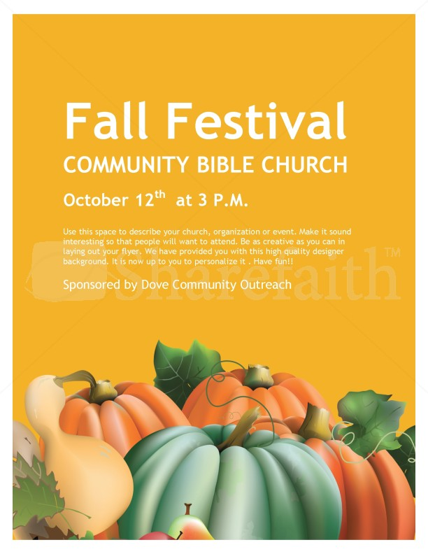 Fall Festival Church Flyer Template  Flyer Templates