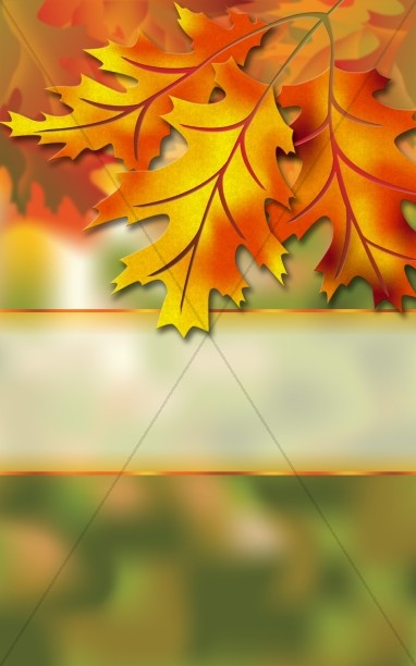 autumn leaves church bulletin harvest fall church