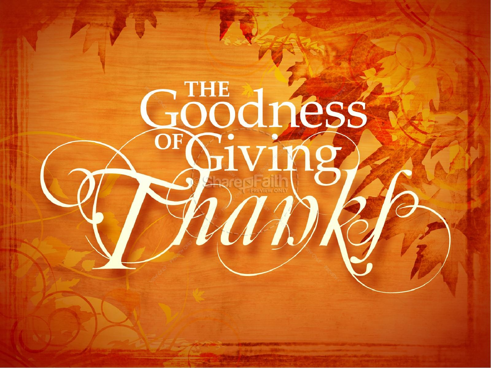 Giving Thanks PowerPoint Slide | slide 2