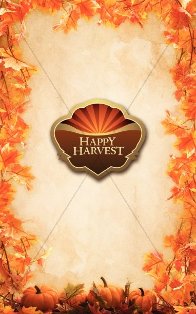 Happy Harvest Bulletin Cover
