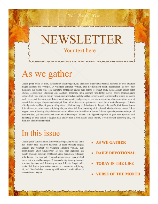 Autumn Church Newsletter | page 1