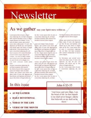 Fall Leaves Church Newsletter