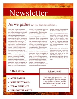 fall leaves church newsletter template newsletter templates