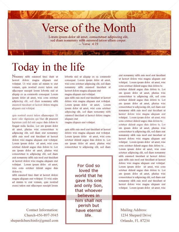 Fall Leaves Church Newsletter | page 3