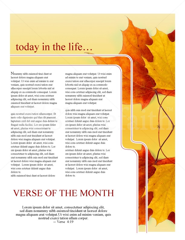 Maple Leaf Church Newsletter