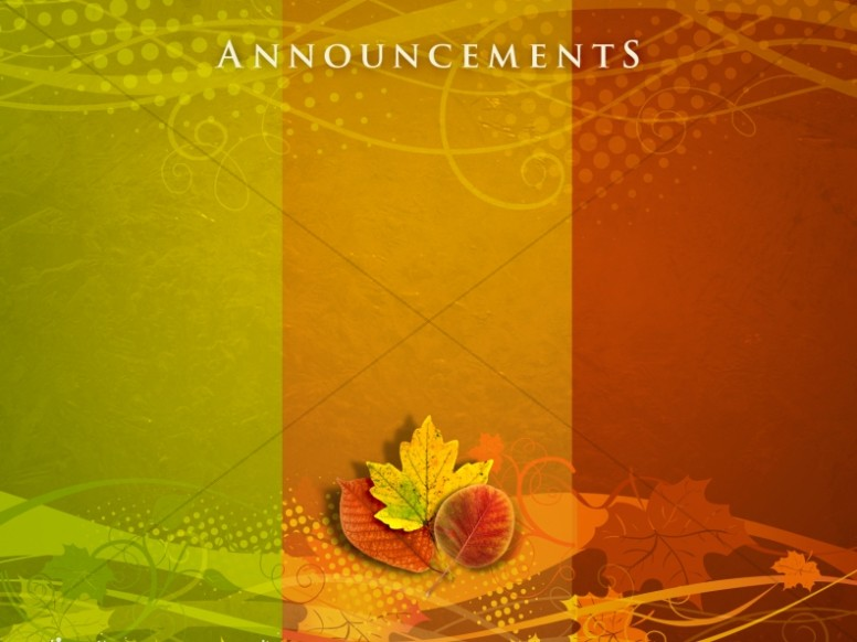 Thanksgiving Colors Announceement Background