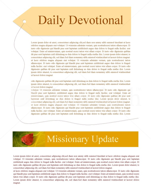 Newsletter Design For Fall | page 2