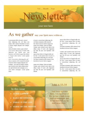 Harvest time church newsletter template newsletter templates spiritdancerdesigns Images