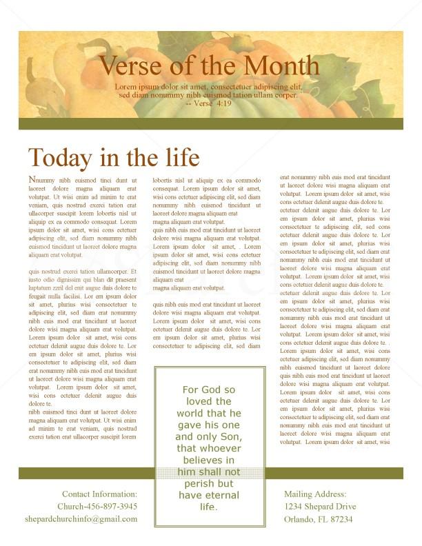 Harvest Of Plenty Church Newletter