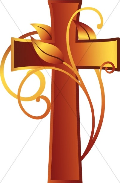 Cross and Vine Christian Clipart