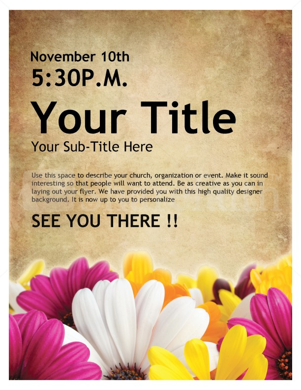 Womens Retreat Church Event Flyer Template Flyer Templates - Free church flyer templates microsoft word
