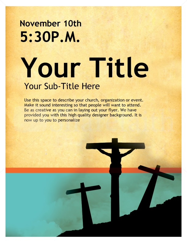 Three Crosses Church Flyer