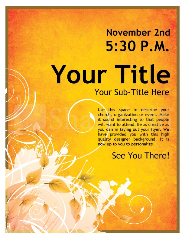 Youth events church flyer for Religious flyers template free
