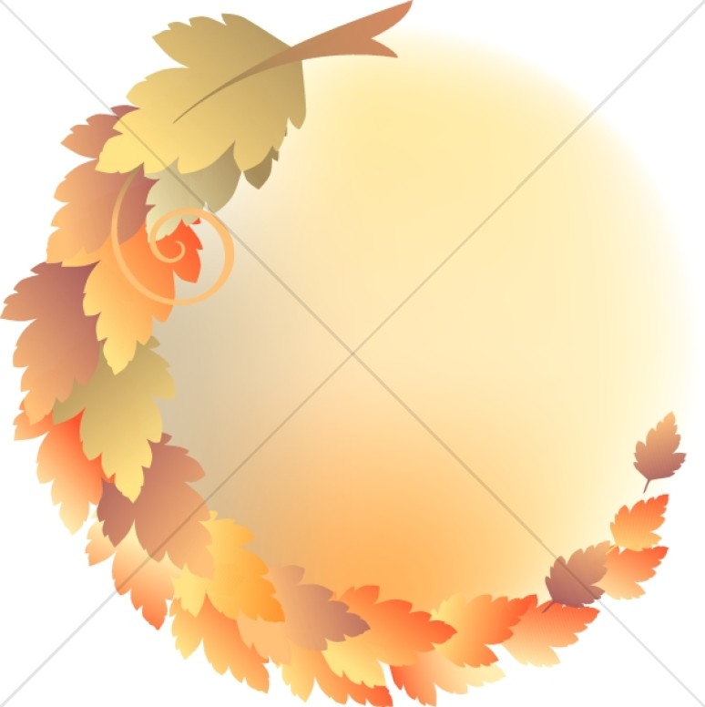 Circle Of Leaves Christian Clipart