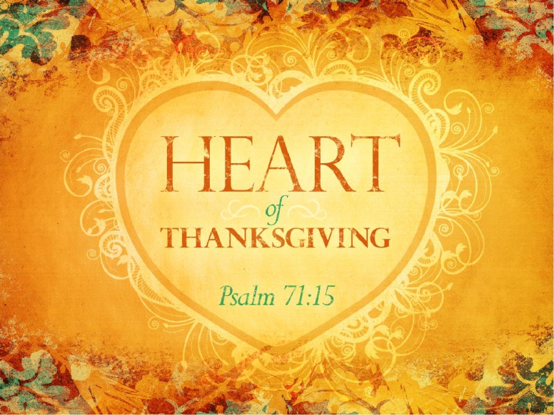 Heart Of Thanksgiving PowerPoint
