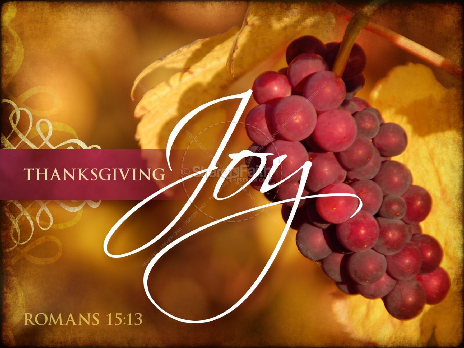 Joyful Thanksgiving Sermon PowerPoint | slide 1