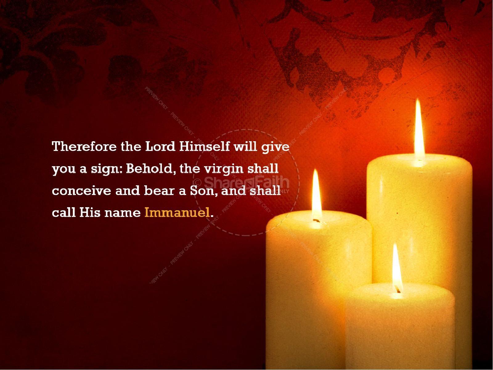 Christmas Light Christian PowerPoint | slide 2