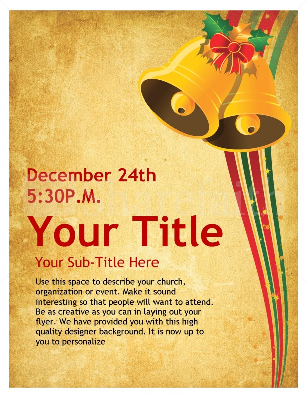 Christmas Bells Church Flyer Template | Flyer Templates