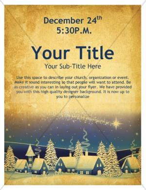 Christmas Cabins Church Flyer