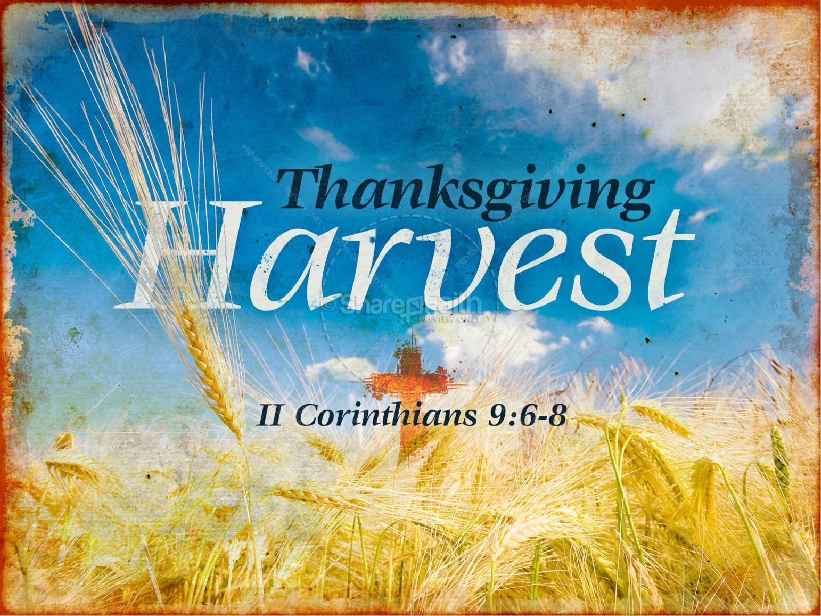 Thanksgiving Harvest Sermon PowerPoint | slide 1