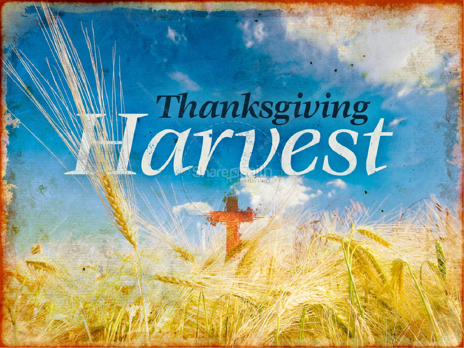 Thanksgiving Harvest Sermon PowerPoint