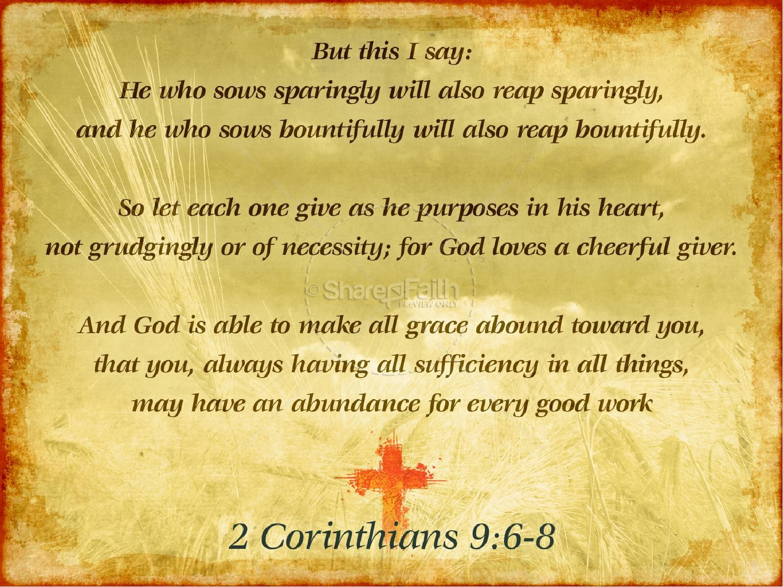 Thanksgiving Harvest Sermon PowerPoint | Fall Thanksgiving