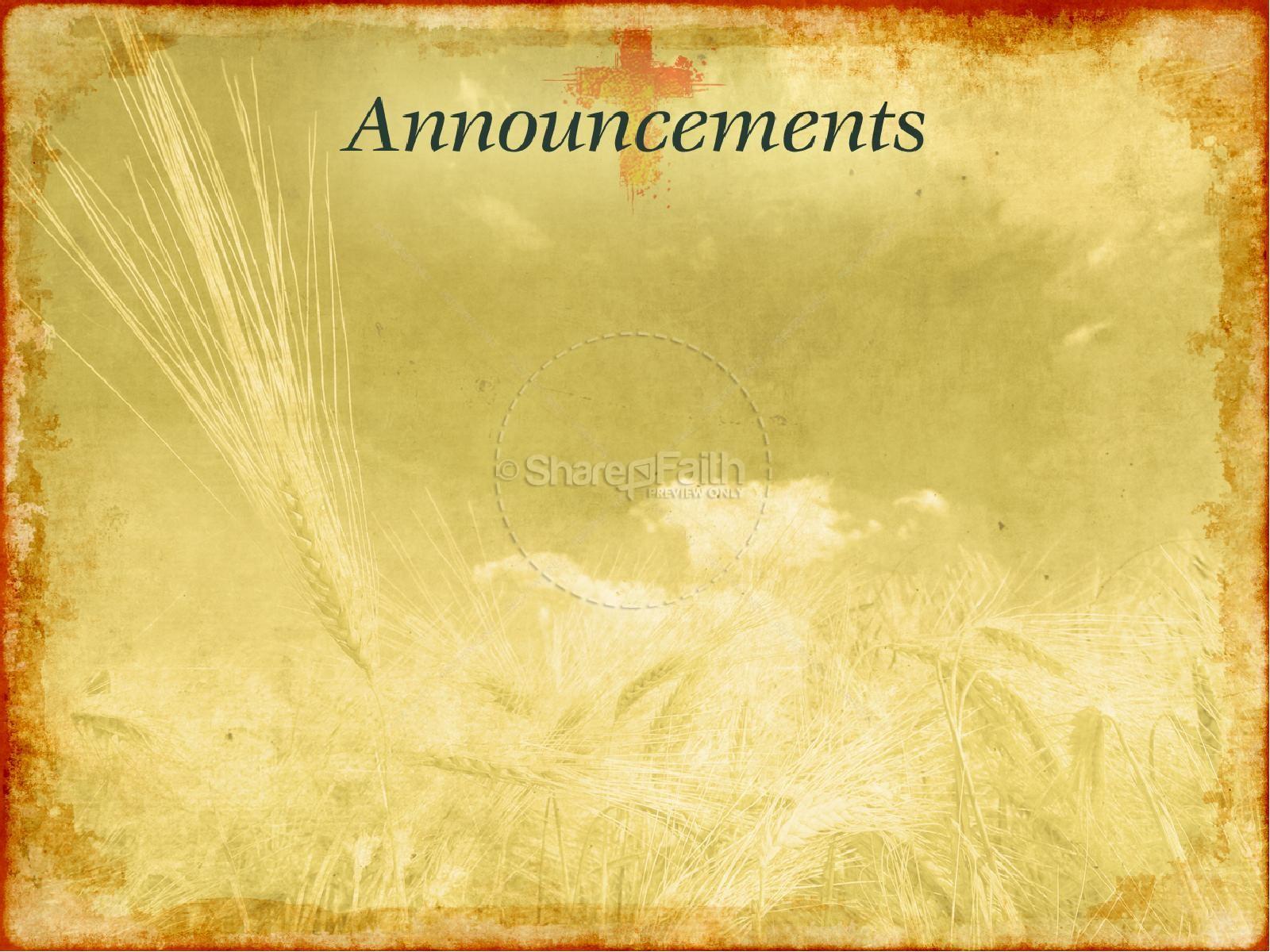 Thanksgiving Harvest Sermon PowerPoint | slide 5