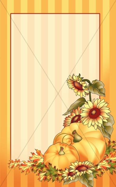 Pumpkins and Sunflower Bulletin Cover